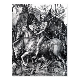 Der Ritter, Tod und der Teufel durch Albrecht Postkarte