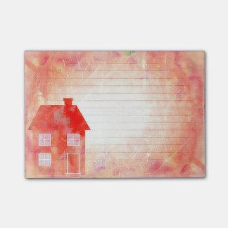 Der Rot-Haus Posten-it® merkt 4 x 3 Post-it Klebezettel