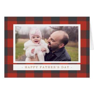 Der rote karierte Vatertag Karte