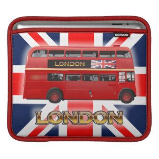Der rote London-Doppeldecker-Bus Sleeve Für iPads