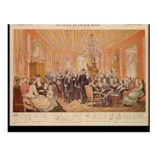 Der Salon von Victor Hugo Postkarte