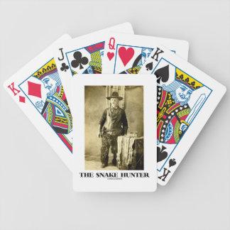 Der Schlangen-Jäger (Vintage Foto-Schlangen-Häute) Pokerkarten