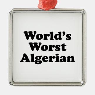 Der schlechteste Algerier der Welt Silbernes Ornament