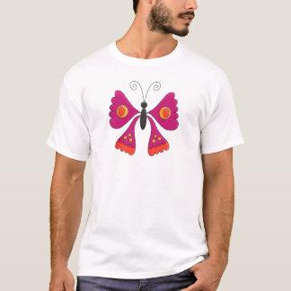 Der Schmetterlings-dunkles Rosa des T - T-Shirt