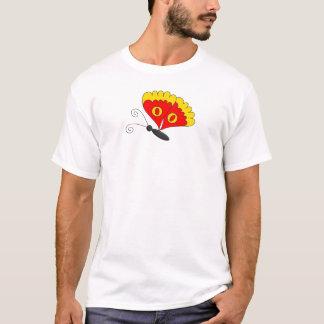 Der Schmetterlings-rotes Gelb des T - T-Shirt