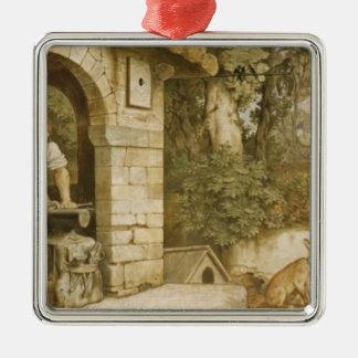 Der Schmied von Ruhla, c.1854-55 Quadratisches Silberfarbenes Ornament