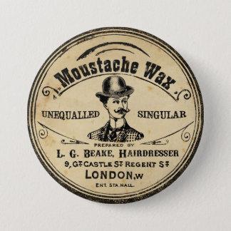 Der Schnurrbart-Schnurrbart-Wachs-Button-Knopf der Runder Button 7,6 Cm