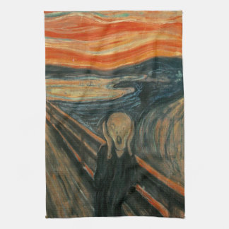 Der Schrei durch Edvard Munch Küchenhandtücher