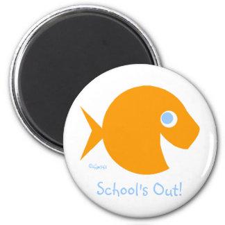 Der Schule der letzte Tag heraus des Jahr-Magneten Runder Magnet 5,1 Cm