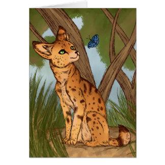 Der Serval und der Schmetterling Karte