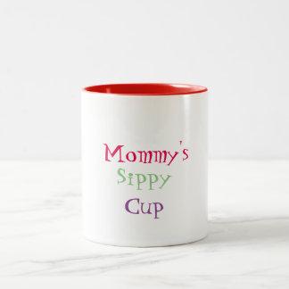 Der Sippy der Mama Schalen-Tasse Zweifarbige Tasse