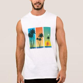 Der Sleeveless T - Shirt der Männer - tropische