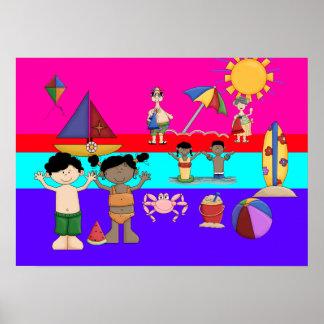 Der Sommer-Spaß des Plakat-Kindes Poster