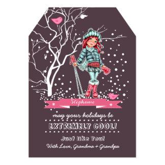 Der spaß-Weihnachtskarten des kundenspezifisches 12,7 X 17,8 Cm Einladungskarte