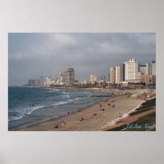 Der Strand in Tel Aviv Poster