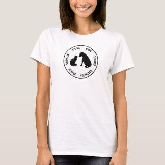 Der T - Shirt der Hilfstier-Frauen