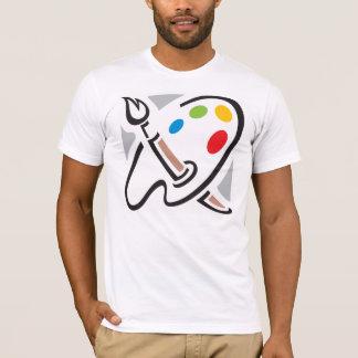 Der T - Shirt der Maler-Paletten-Männer