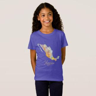 Der T - Shirt der Mexiko-Kartewatercolor-Mädchen