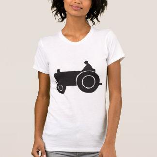Der T - Shirt der Traktor-Silhouette-Frauen