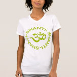 Der T - Shirt Frauen OM Shanti Shanti Shanti