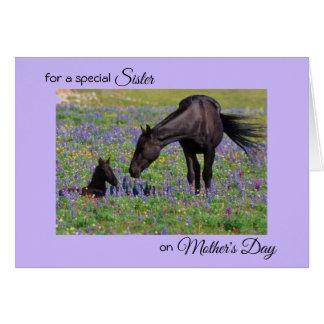 Der Tag der Mutter für Schwester-Stuten-u. Karte