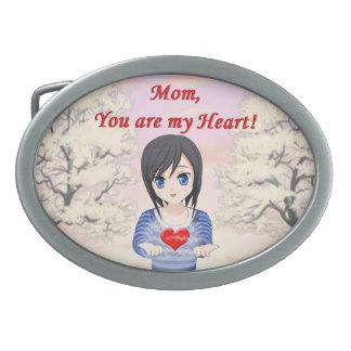 Der Tag der Mutter - Mama, sind Sie mein Herz Ovale Gürtelschnallen