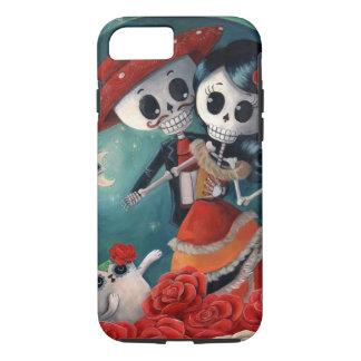 Der Tag der toten Skeleton Liebhaber iPhone 8/7 Hülle