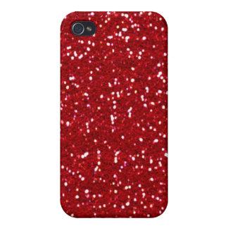 Der Tag des Valentines ROTES (Imitat) GLITTERATI! Hülle Fürs iPhone 4