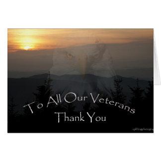 Der Tag des Veterans Karte