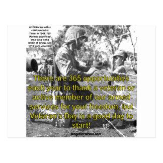 Der Tag des Veterans Postkarte
