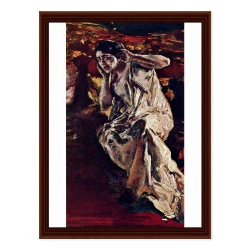 Der Tänzer Madeleine durch Keller Albert Von Postkarte