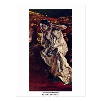 Der Tänzer Madeleine durch Keller Albert Von Postkarten
