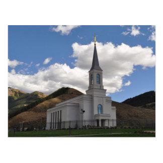 Der Tempel Stern-Tal-Wyomings LDS Postkarte