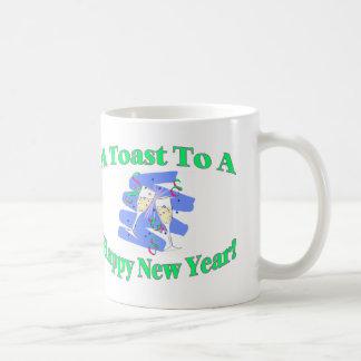 Der Toast des neuen Jahres Tasse