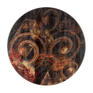 Der Ton Musik-des abstrakten Kunst-Kreises Schneidebrett