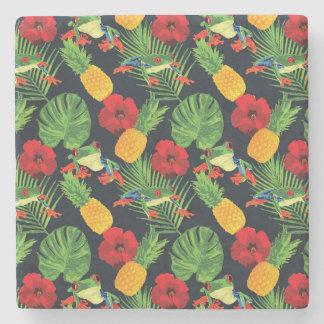 Der tropische rote mit Augen Baum-Frosch Steinuntersetzer