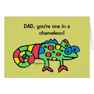 Der Vatertags-Chamäleon-Karte Grußkarte