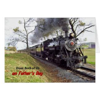 Der Vatertags-Dampf-Zug von beiden von uns Karte