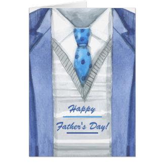 Der Vatertags-Gruß-Karte blaue Jacken- Karte