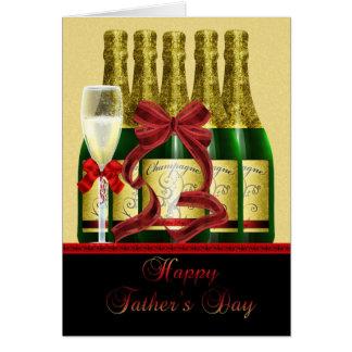 Der Vatertags-Karte Vati-- Champagne Karte