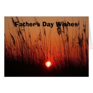 Der Vatertags-Wünsche Grußkarte