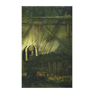 Der Versand von Napoleons Asche an Bord Galerie Falt Leinwand