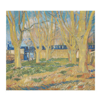 Der Viaduct in Arles blauem Zug Vincent van Gogh Leinwanddrucke