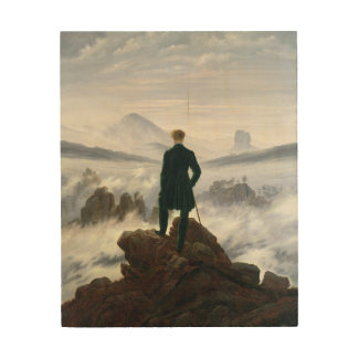 Der Wanderer über dem Meer des Nebels Holzleinwände