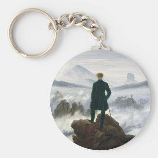 Der Wanderer über dem Meer des Nebels Schlüsselanhänger