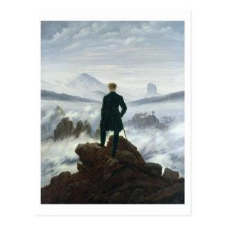 Der Wanderer über dem Meer von Nebel, 1818 Postkarte