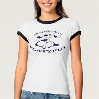 Der Wecker-T-Stück Platypus Damen - Blau T-Shirt