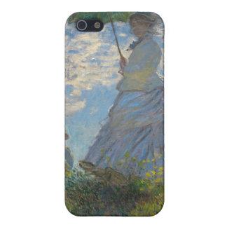 Der Weg, Frau mit einem Sonnenschirm (1875) iPhone 5 Hüllen