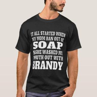 Der Weinbrand-Trinken der Männer T-Shirt