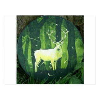 Der weiße Hirsch Postkarte